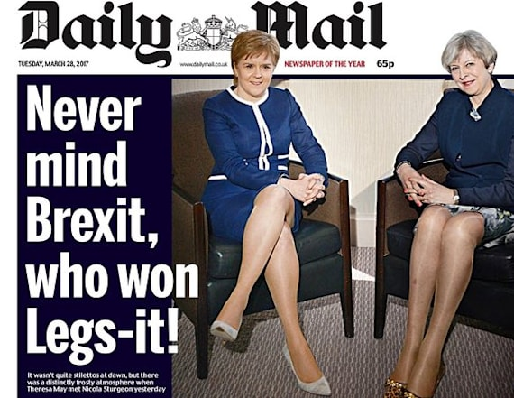 Daily Mail criticized for sexist 'Legs-It' page