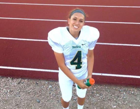 Senior makes history with her football scholarship