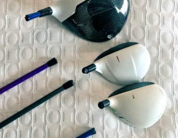 Golf pro's clubs snapped on United flight