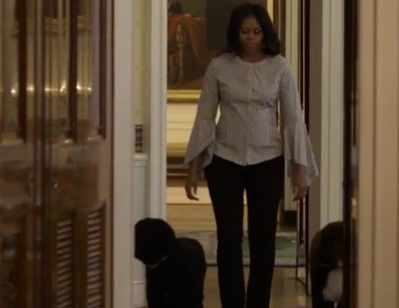 Michelle Obama shares final White House stroll