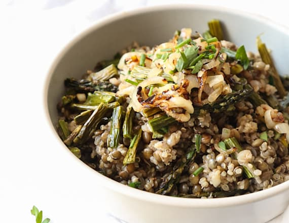 Wellness Wednesday: Spring quinoa with asparagus