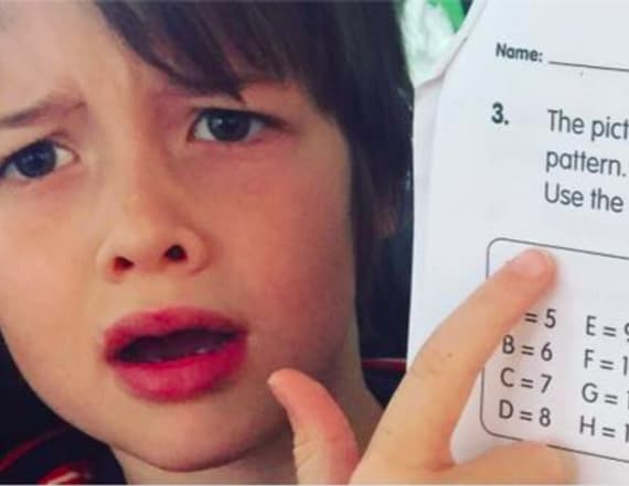 First grader's math problem is stumping adults