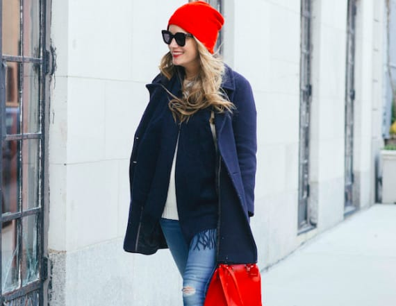 This nautical color combination is winter approved