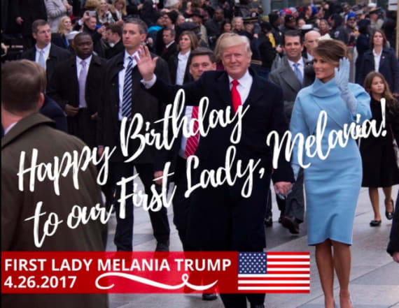 Trump's birthday message for his wife looks off