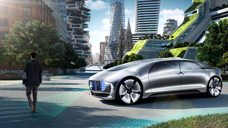 Mercedes-Benz concept car takes driverless vehicles into the future