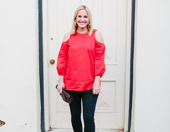 How to style a cold shoulder top in the winter