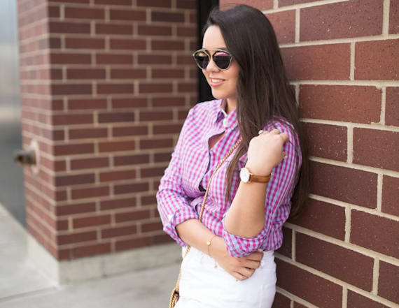 Street style tip of the day: Gingham button down