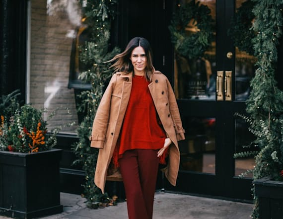 Street style tip of the day: Rusted red