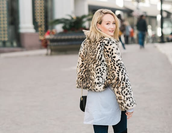 Street style tip of the day: Leopard fur
