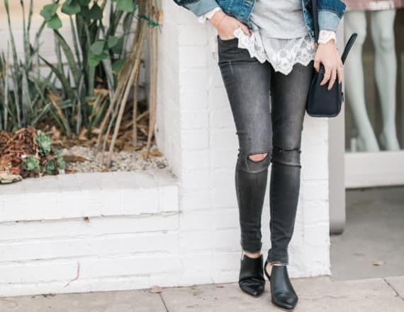 DIY raw hem jeans