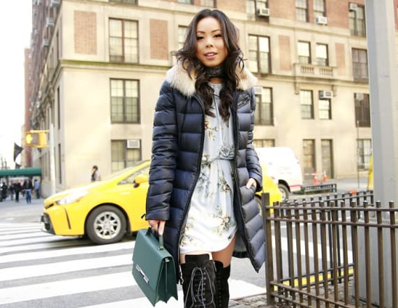 Street style tip of the day: Dressing up the puffer