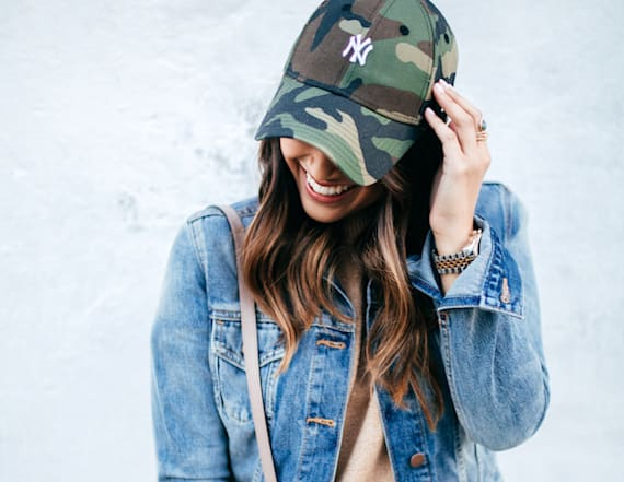 Street style tip of the day: Camoflage hat