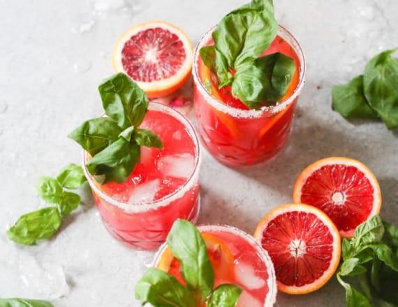 Try this refreshing blood orange-basil margarita