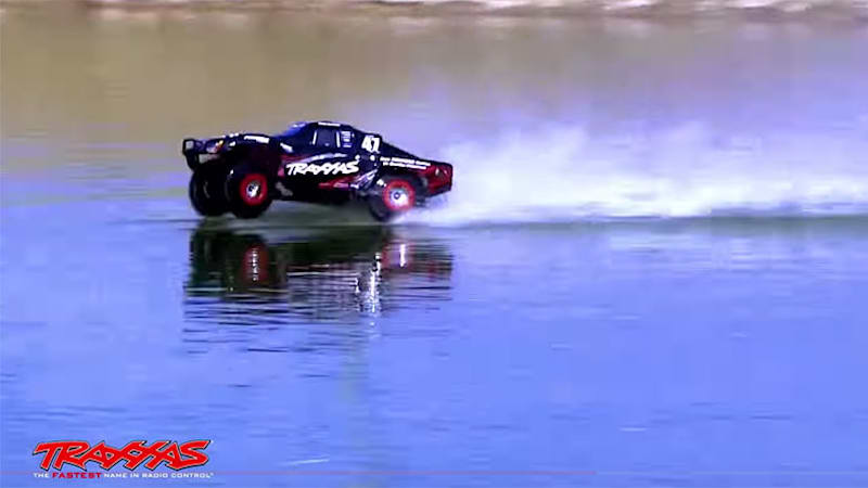 traxxas rc car is so fast it can drive on water autoblog. Black Bedroom Furniture Sets. Home Design Ideas