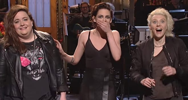 Kristen Stewart Drops F-Bomb in 'SNL' Monologue Mocking Trump as a Robsten Fanboy