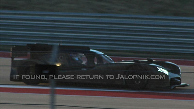 Nissan's front-engined Le Mans car caught testing at COTA