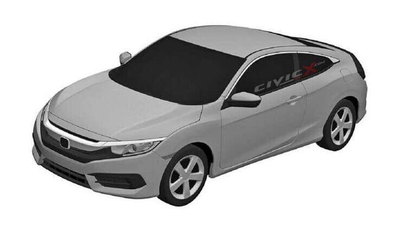 2016 Honda Civic revealed in patent drawings