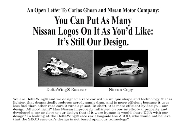 Deltawing and Nissan Zeod ad