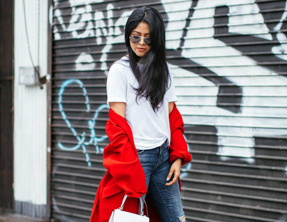 Street style tip of the day: Bold red coat