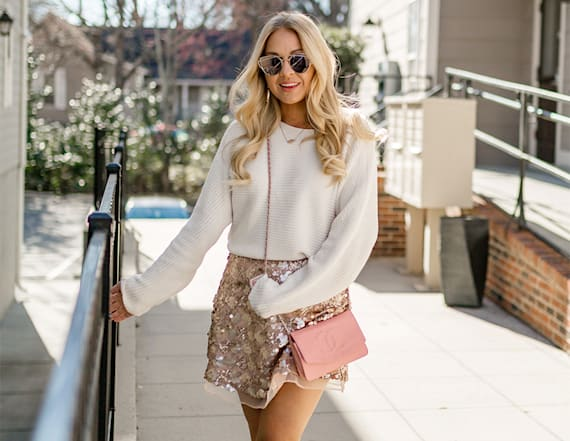 Street style tip of the day: Sequin skirt