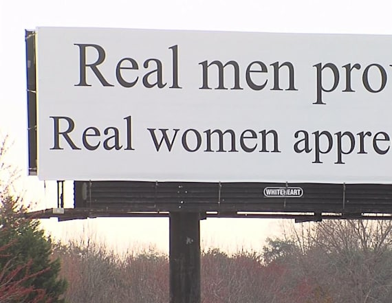 Billboard about 'real men' sparks controversy