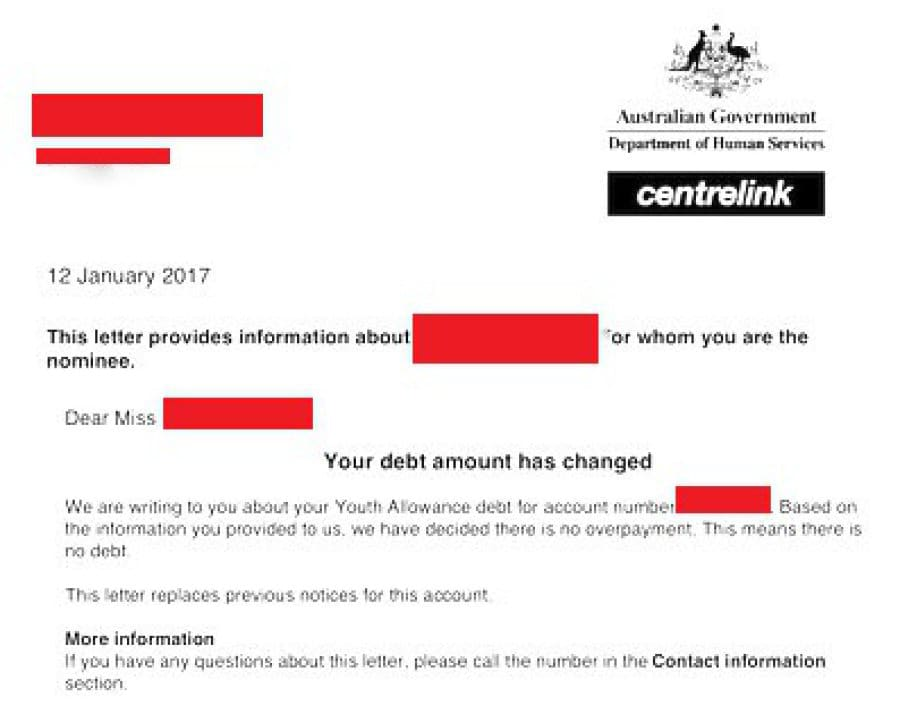 i like you letters spends 30 hours disputing false 5500 centrelink debt 22515