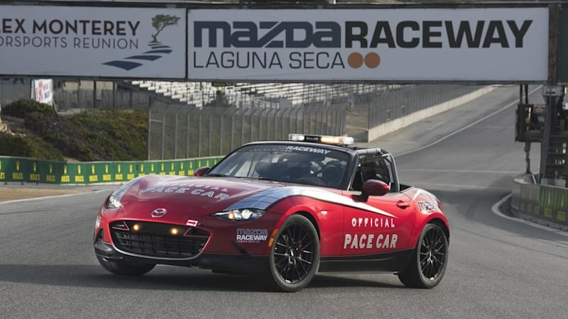 mazda raceway gets first new mx 5 cup as pace car autoblog. Black Bedroom Furniture Sets. Home Design Ideas