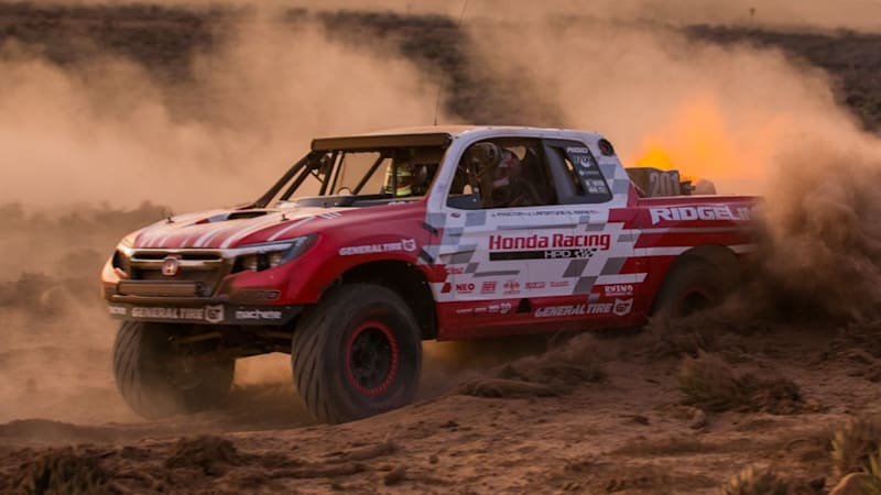 Honda Ridgeline sorta takes class victory on Baja race debut