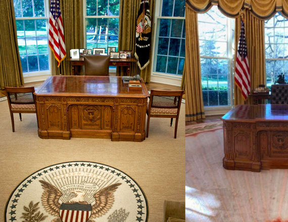 See the changes Donald Trump made to the Oval Office