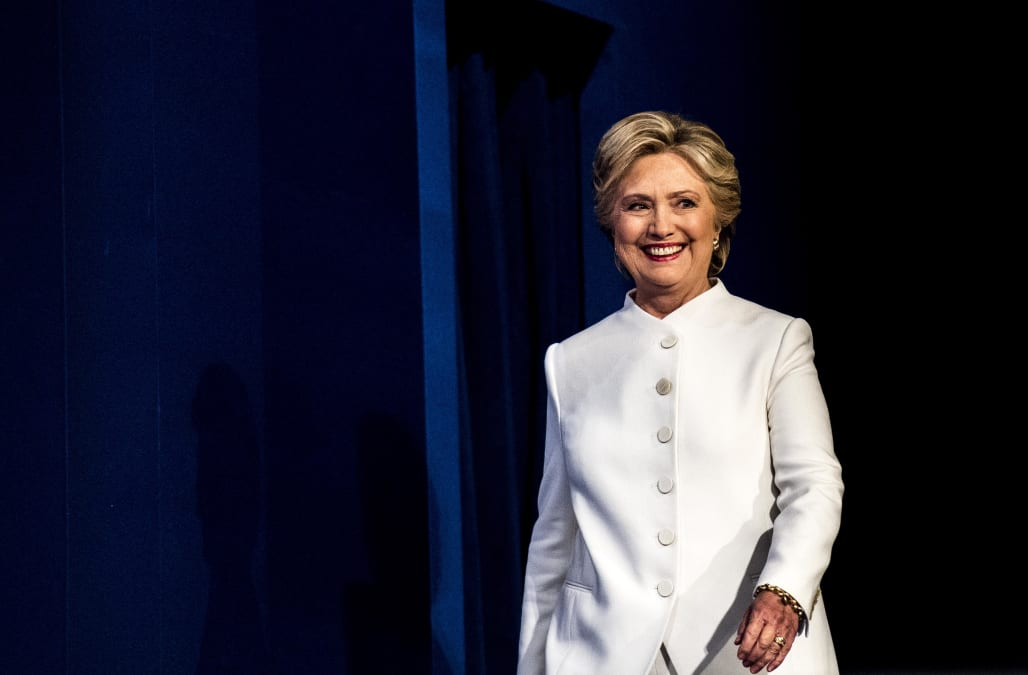 24d39f0975 Last night was the third and final presidential debate. And Twitter finally  got it  Hillary Clinton hasn t been wearing a pantsuit. It s a power suit