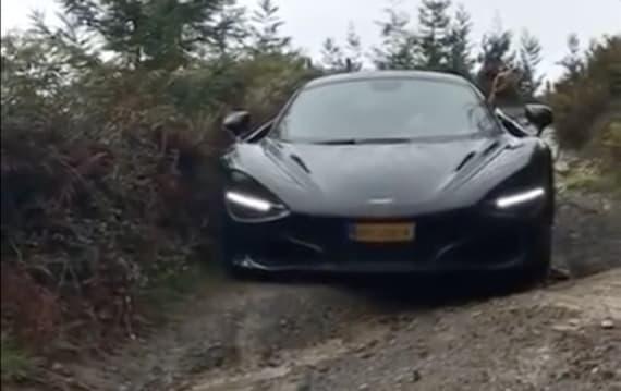 【ビデオ】なぜこんな道をこんなクルマが? マクラーレン「720S」で未舗装の悪路を行く!