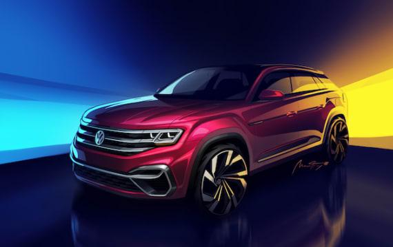 フォルクスワーゲン、「アトラス」5人乗りバージョンの発表を予告! 単なるショート版ではなく流行りのクーペ風SUVか!?