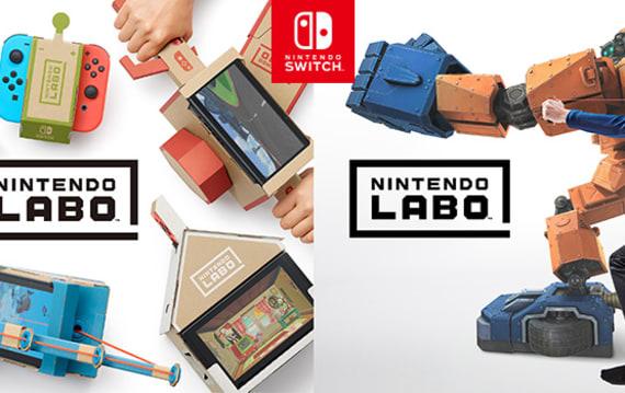 速報:『あそびの発明』Nintendo Labo発表。工作キットと任天堂スイッチを合体