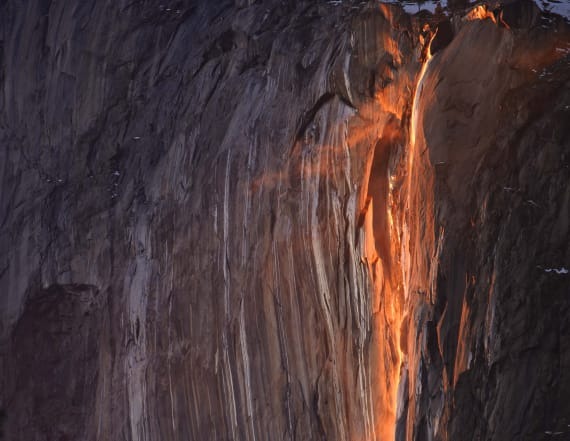Why Yosemite looks like it's on fire this month