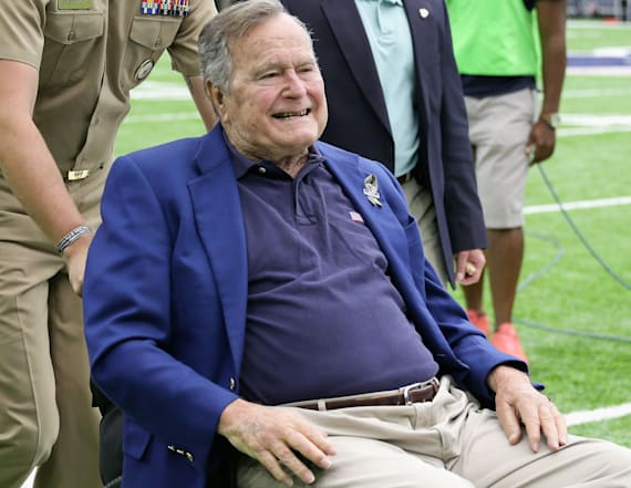George H.W. Bush watched inauguration from hospital