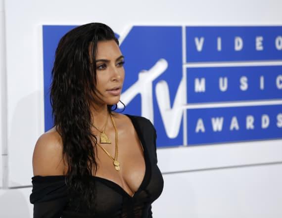 Kim Kardashian rocks lacy lingerie look