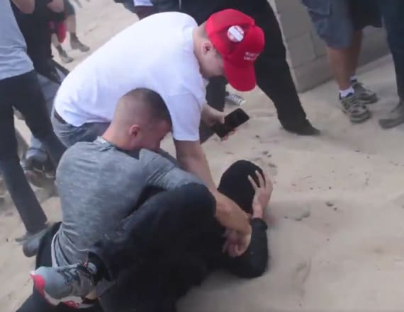 Pro-Trump MAGA rally erupts into violent clash