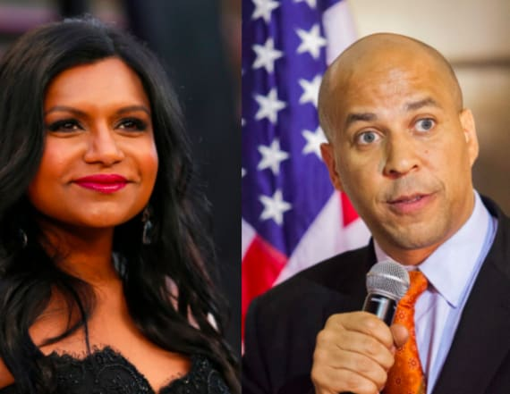 Mindy Kaling accepts dinner date with Cory Booker