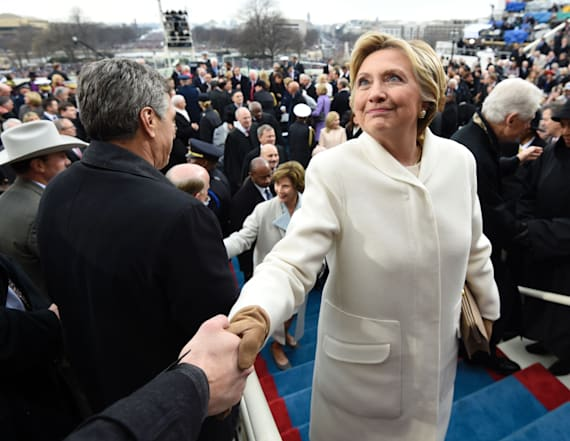 Hillary wears Ralph Lauren on Inauguration Day, too