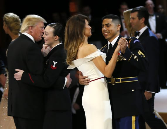 Soldier opens up about dance with Melania Trump