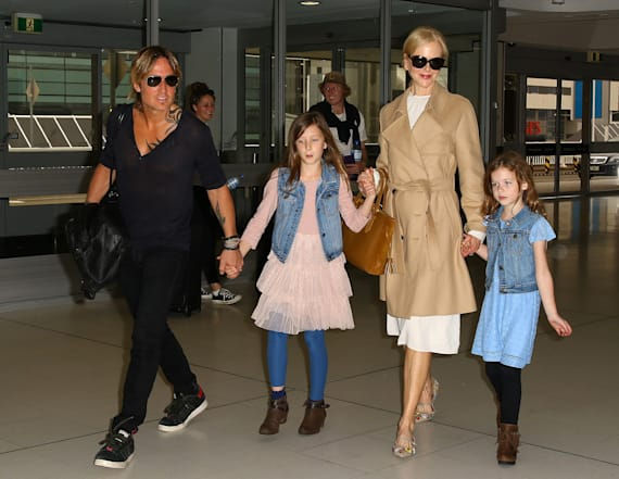 Nicole Kidman, Keith Urban seen with young daughters