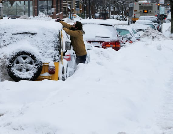 At least two dead as winter storm rocks New England