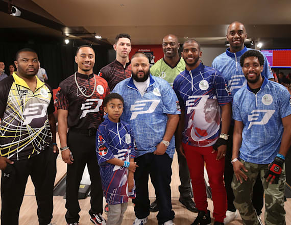 DJ Khaled bowls it out at CP3's PBA Invitational