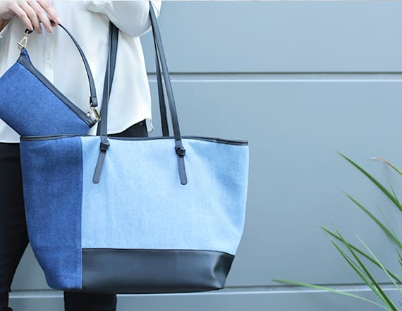 Patchwork tote will satisfy your denim desires