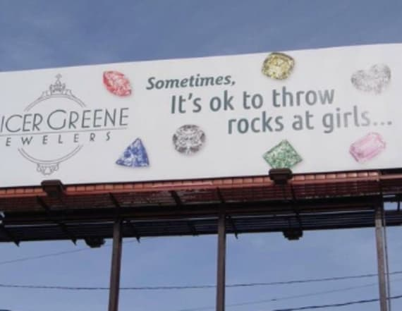 Jewelry store billboard faces backlash