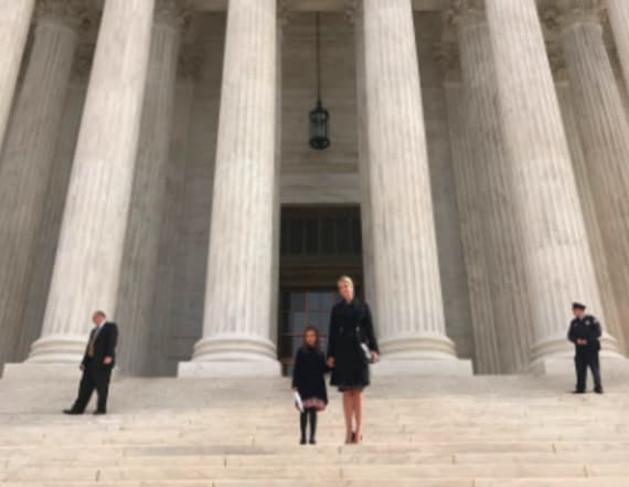 Ivanka Trump shares SCOTUS photo with daughter