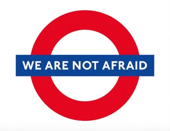 People post #WeAreNotAfraid in wake of London attack