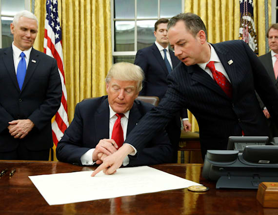 Trump signs first executive order
