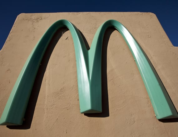 Only one McDonald's in the world has this color sign