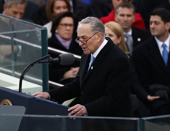 Chuck Schumer takes subtle shots at President Trump